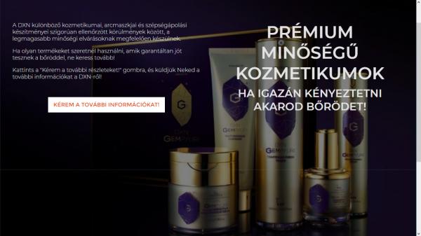 Prémium minőségű kozmetikumok